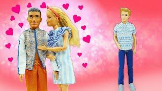 Смешные видео онлайн - Кукле Барби Кен сделал Причёску для свидания!!! - Игры одевалки для девочек.