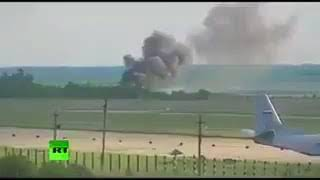 Video: Así se ESTRELLÓ avión RUSO