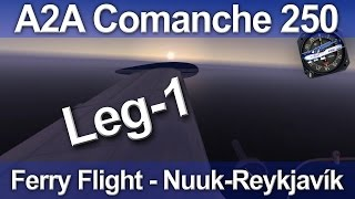 A2A Comanche 250 Ferry Flight, Nuuk - Reykjavík Part 1