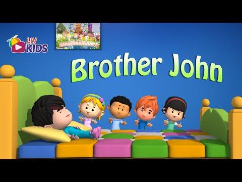 Brother John | English Nursery Rhymes with Lyrics | Popular Kids' Songs