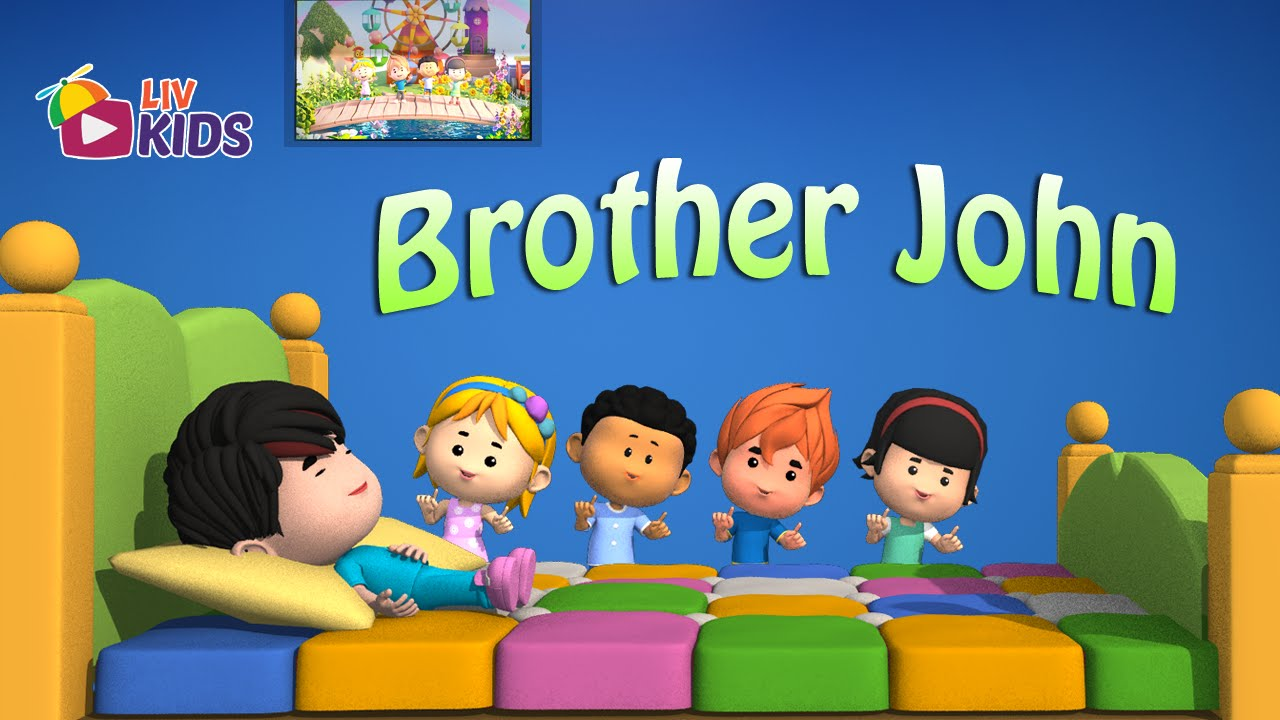 Are You Sleeping Brother John With Lyrics Liv Kids Nursery Rhymes And Song Hd