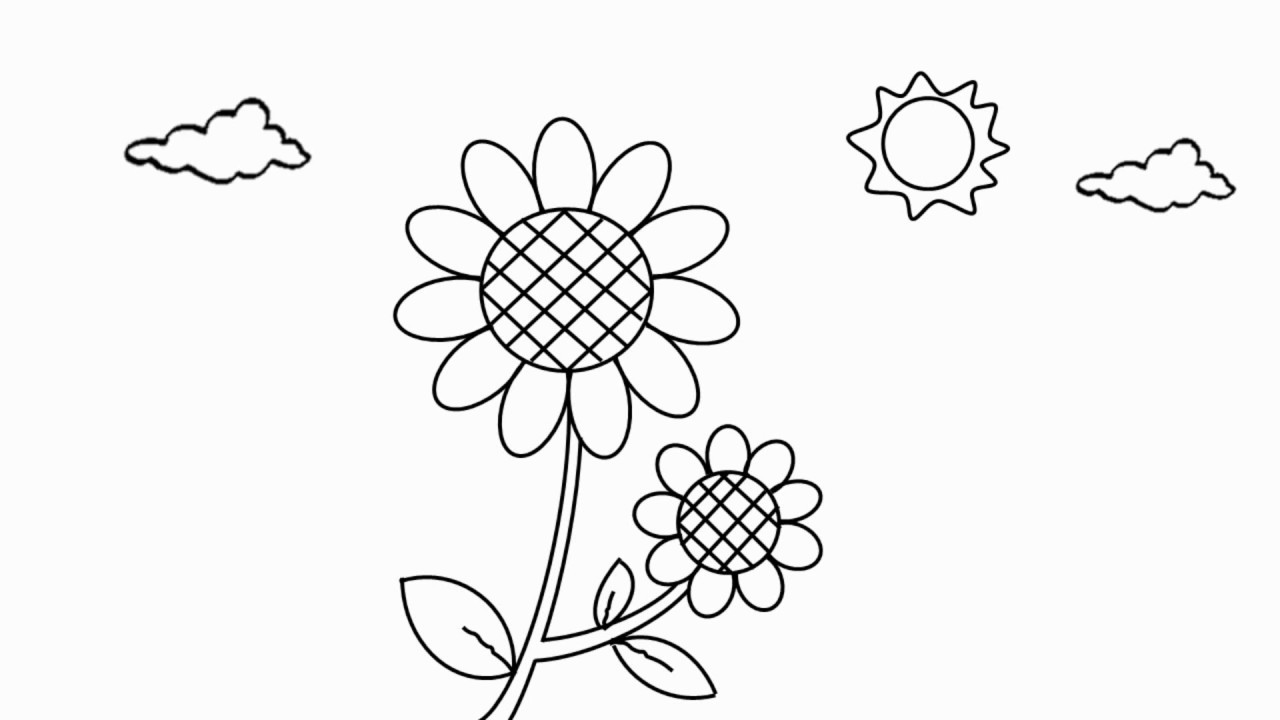 Cara Menggambar Bunga Matahari Untuk Anak Youtube