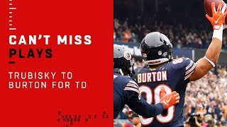 Mitch Trubisky Airs it Out to Trey Burton for the Quick TD!
