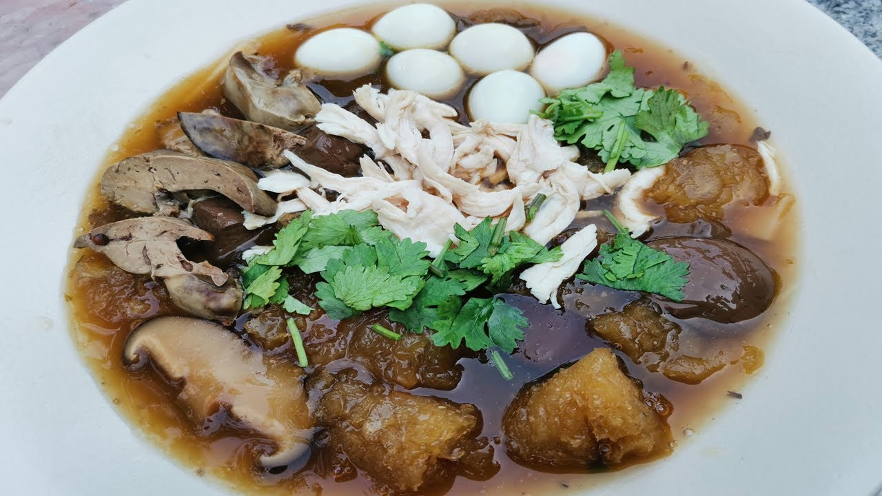 วิธีทำกระเพาะปลาน้ำแดง สูตรทำขาย เทคนิคต้มให้อร่อยไร้กลิ่นคาว (Fish maw in chicken broth)
