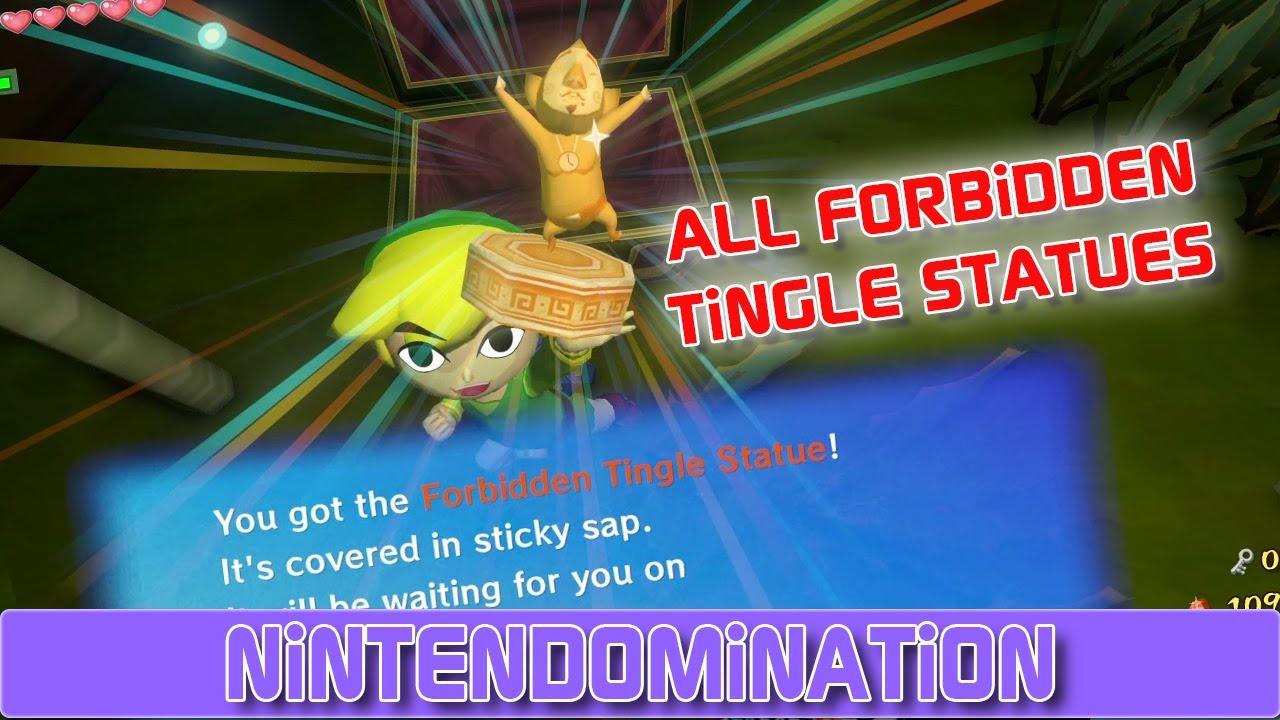 Zelda The Wind Waker Hd All Forbidden Tingle Statues Youtube