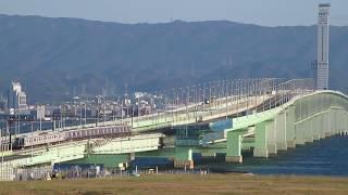 関西空港 連絡橋 損傷 JR 南海8000&1000系 離合 今だけ撮影地 2018/11/10