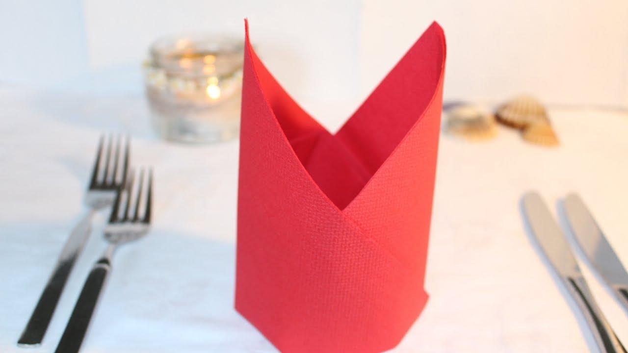 Como doblar una servilleta de papel para fiestas  YouTube