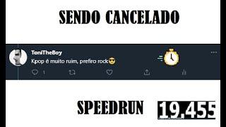Como ser cancelado no Twitter SPEEDRUN (WORLD RECORD!?)