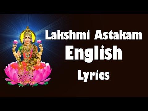 Sri Mahalakshmi Ashtakam English Lyrics - Easy to Learn - LAKSHMI DEVI - BHAKTI TV