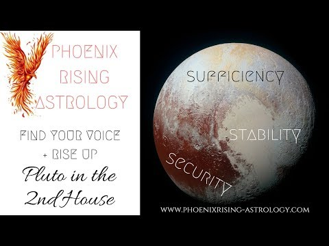 PLUTO IN THE SECOND HOUSE - YouTube