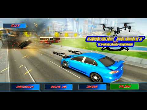 Ultimate Drone Wars: Car Robot Shooting Game - Android Gameplay HD