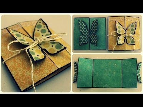 Schmetterlingskarte * DIY * Butterfly Card [eng sub]