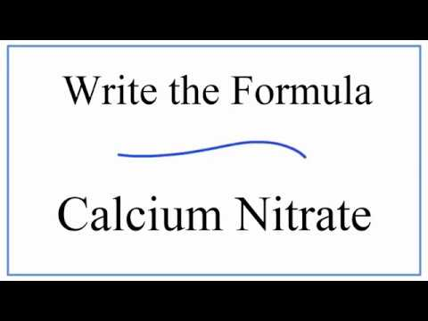 Writing The Formula For Calcium Nitrate Youtube