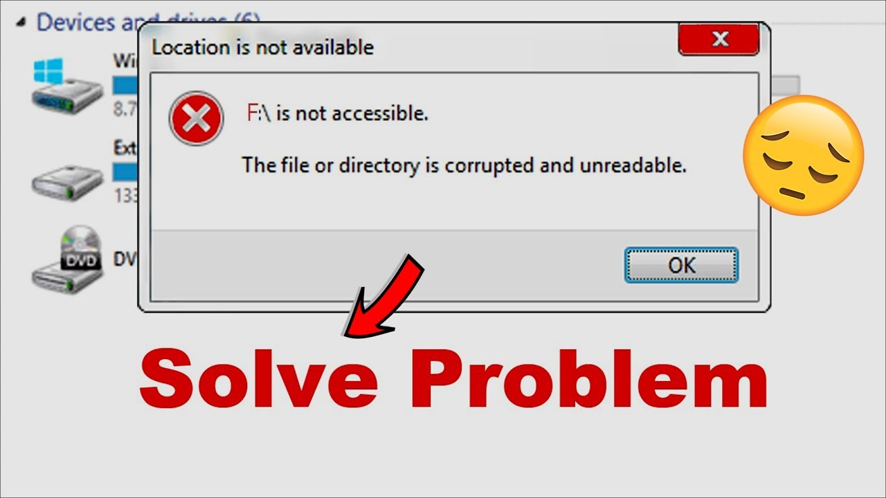 how to delete an unreadable or corrupted file