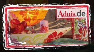 Acrylmalerei mit Schablonen