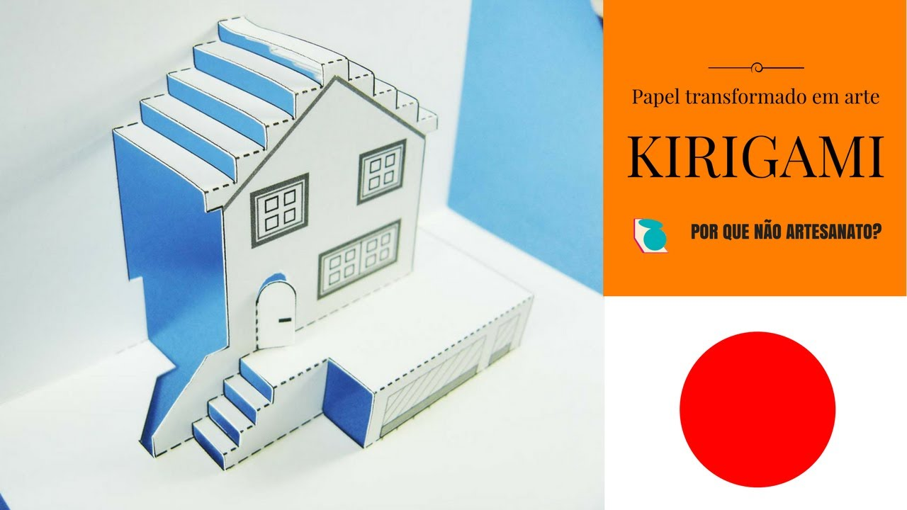 kirigami - molde casa - YouTube