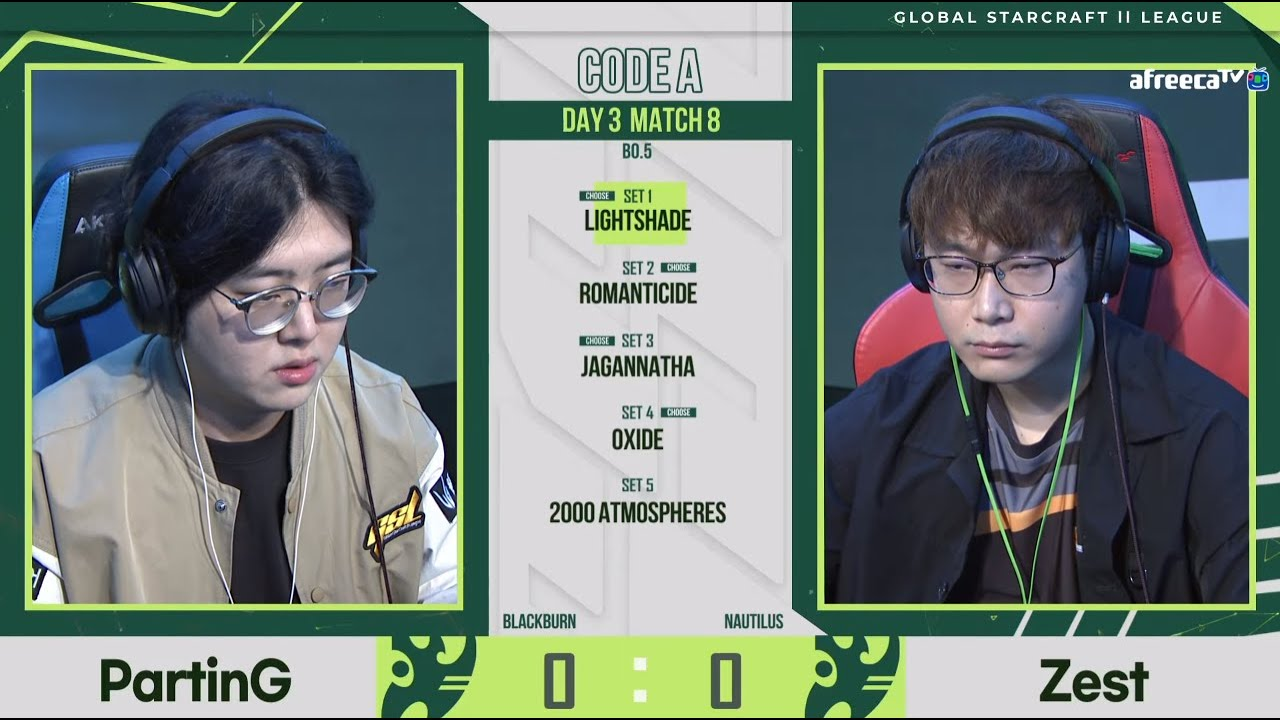 [2021 GSL S2] Code A Day3 Match2 PartinG vs Zest