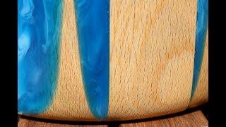 Epoxy Resin Rotbuche Schale Bowl / Wie man es nicht machen sollte / Part 1