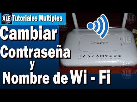 Como Cambiar Contraseña Y Nombre De Wifi | Cambiar La Clave De Mi Wifi Movistar
