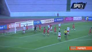 2015 K리그 챌린지 17R 강원FC vs 수원FC 하이라이트