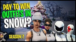 Are These Outfits PAY TO WIN in the *NEW* Fortnite Season 7 Snow Map?