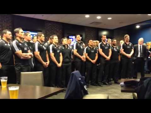 Maori All Blacks singing their farewell song