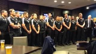 Maori All Blacks singing their farewell song