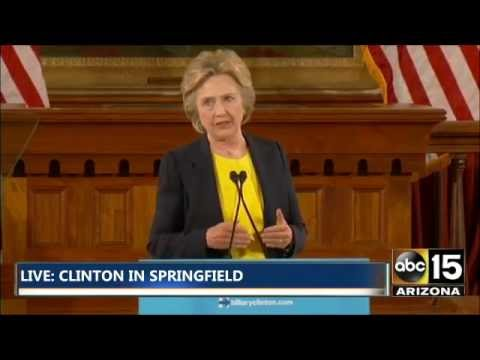 FULL: Hillary Clinton campaign event in Springfield, Illinois