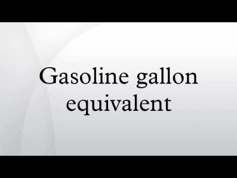 Gasoline Gallon Equivalent