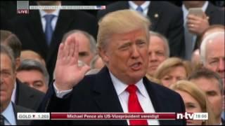 "Swear by President Donald Trump USA ""Vereidigung Donald Trump"""