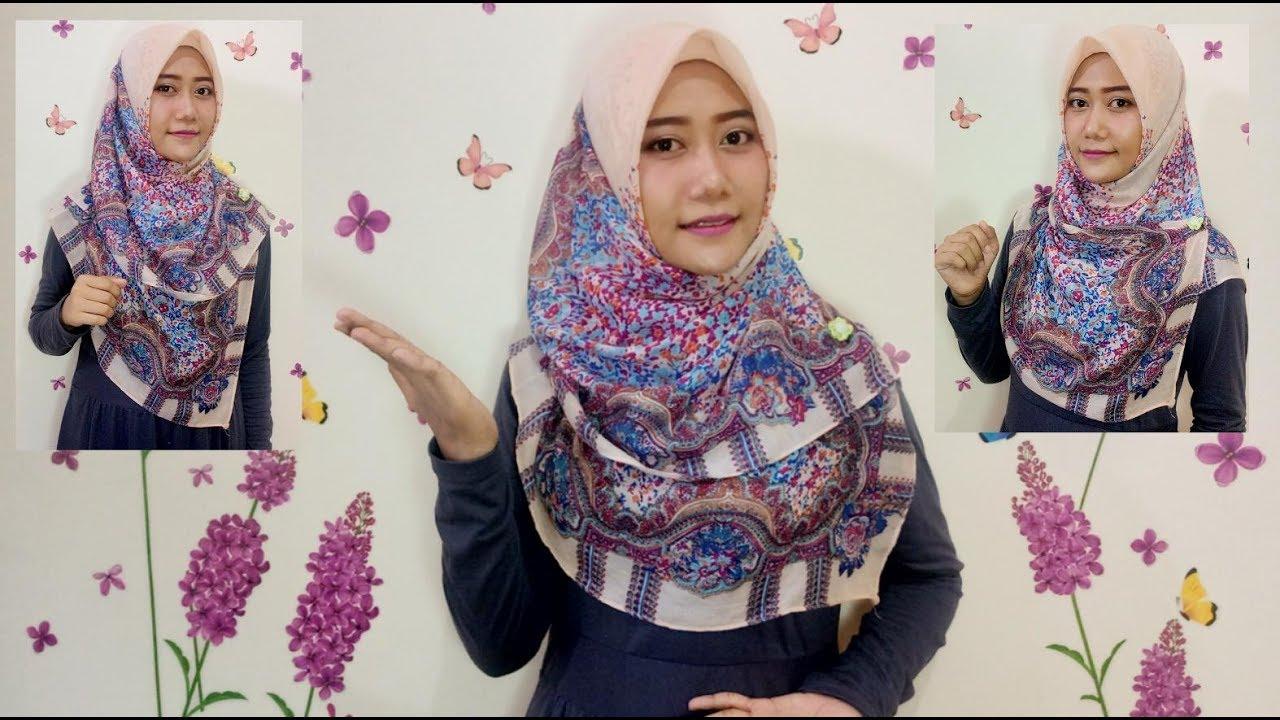 #11 Tutorial Hijab - Segi Empat Menutup Dada (Square Hijab) Gampang Banget