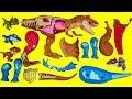 티렉스 트리케라톱스 공룡 대결 쥬라기월드 스냅스쿼드 티렉스 모사사우루스 딜로포사우루스 브라키오사우루스 공룡 블럭 만들기 장난감
