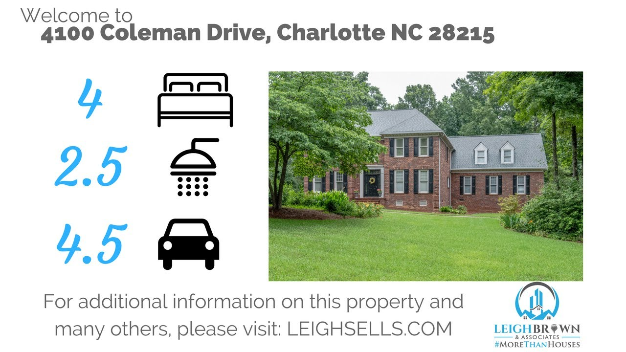 preston forest home for sale 4100 coleman drive charlotte nc