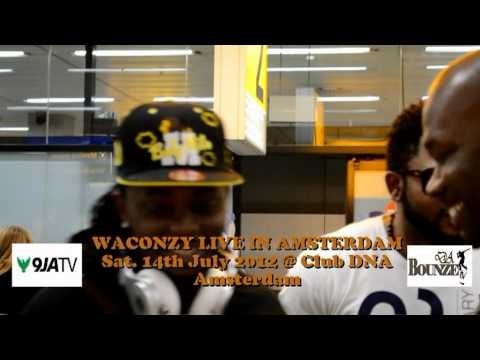 WACONZY LIVE IN AMSTERDAM, SAT. 14TH JULY 2012