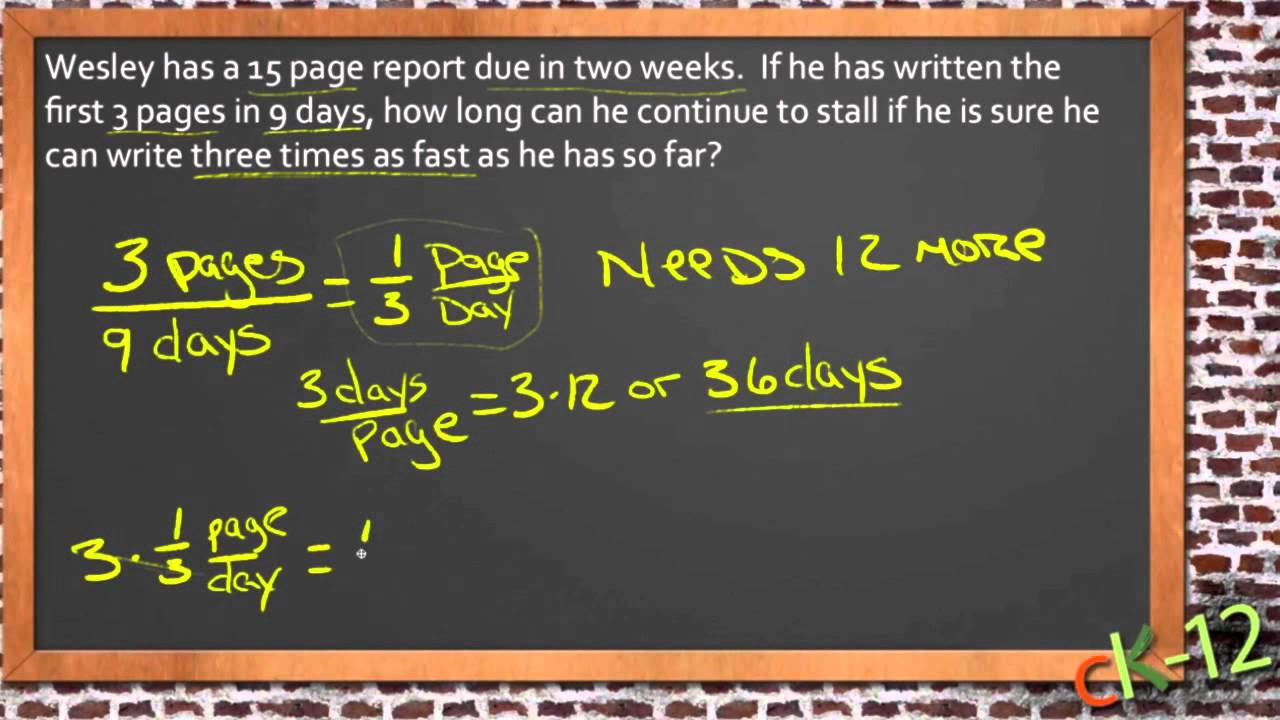 Solving Real World Problems With Linear Equations An