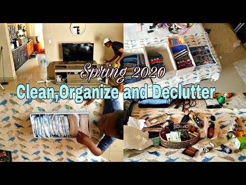 Spring cleaning 2020 Clean,organize and declutter with  me south african youtuber
