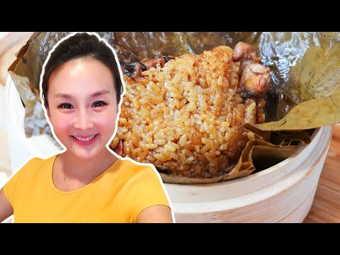 Chicken Sticky Rice In Lotus Leaf, CiCi Li - Asian Home Cooking Recipes