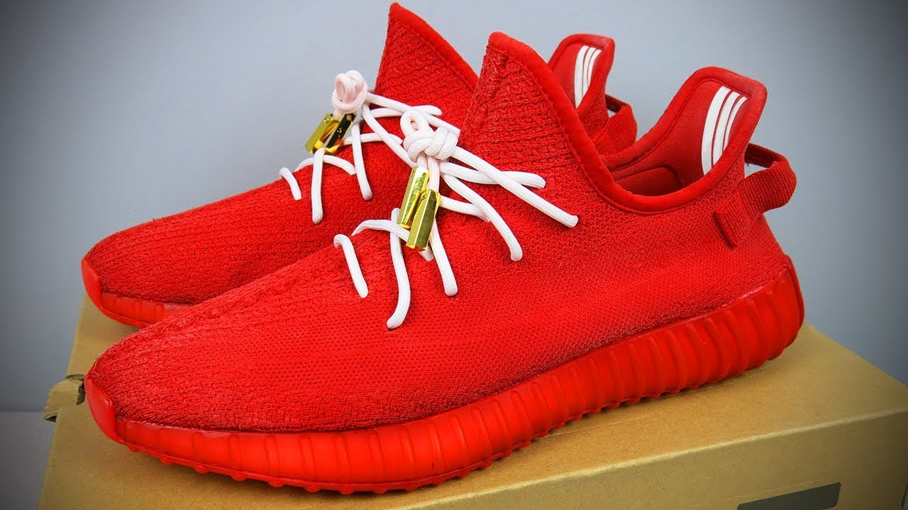 *TRASHED TO TREASURE* THE FIRST RED OCTOBER YEEZY V2 EVER! INSANE CUSTOM & RESTORATION! (MUST WATCH)
