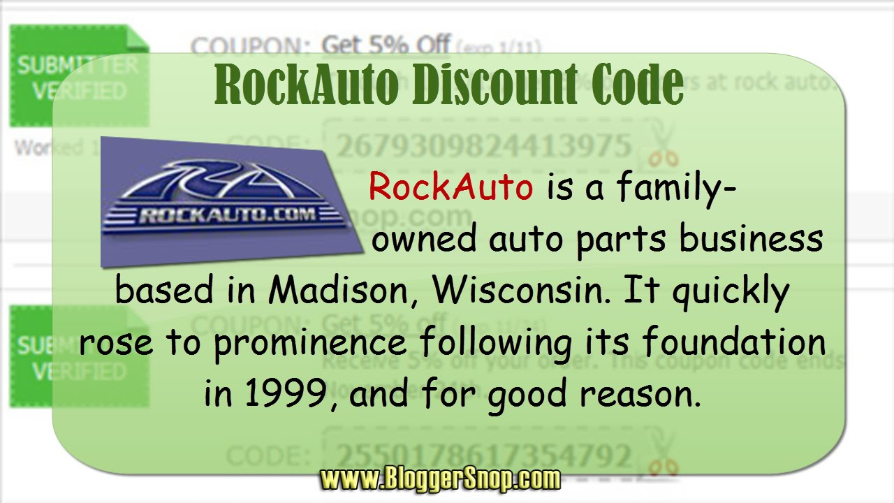 Rockauto coupon codes