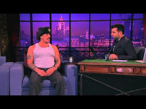 Danny Trejo gives interviews and sings a lullaby in Russia.