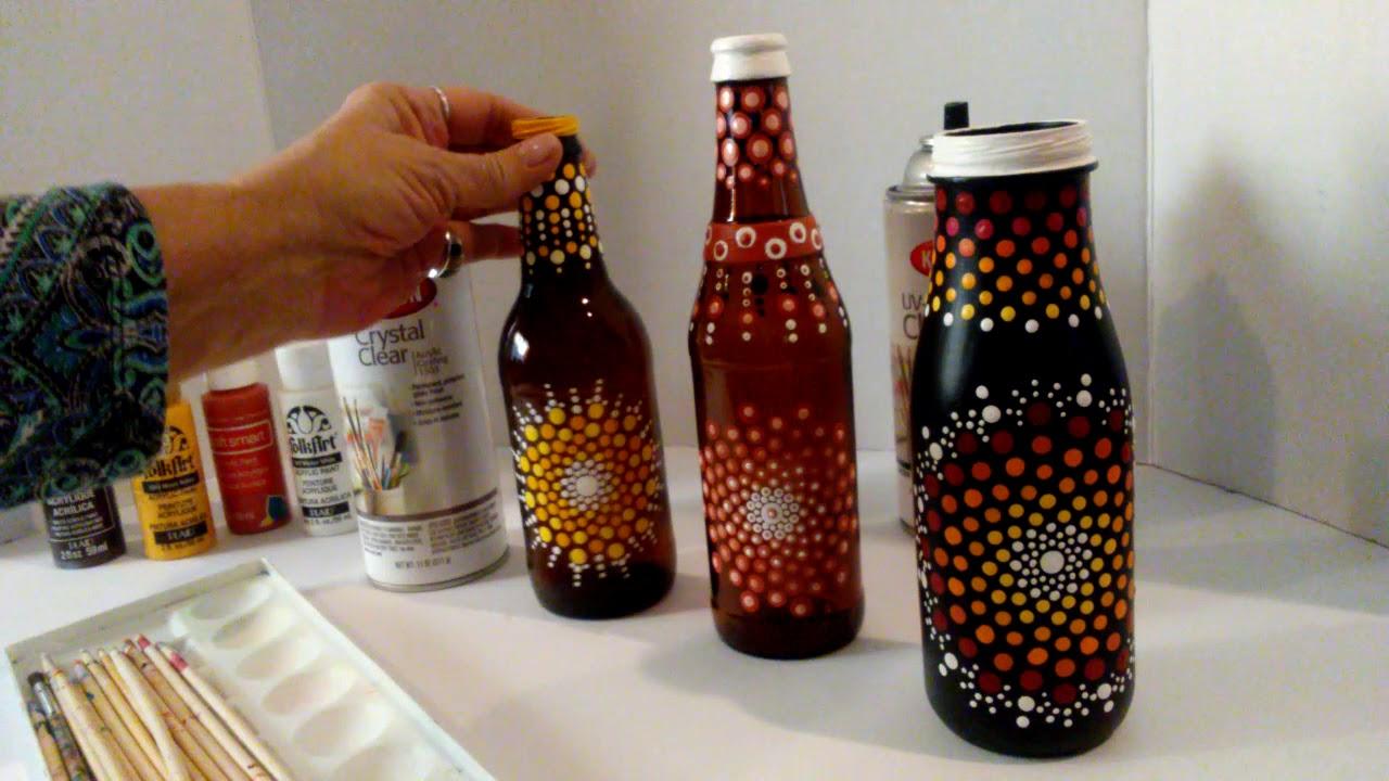 Mandala Dot Painting Sealing Art on Glass