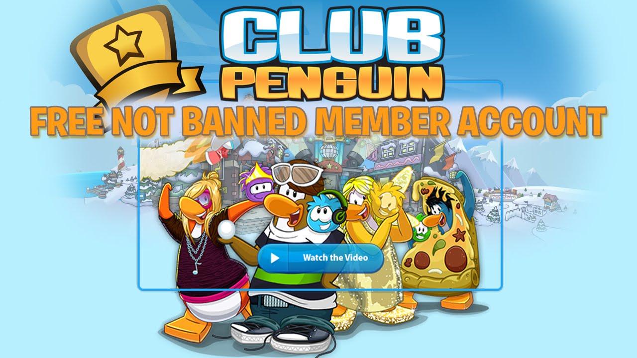 Free club penguin member account 2015 youtube
