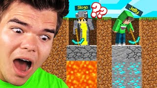 Digging STRAIGHT DOWN For 24 HOURS! (Minecraft Experiment)
