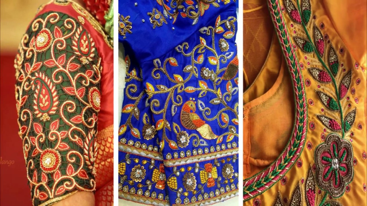 Beautiful Thread Work Blouse Designs For Party Wear Blouse Thread