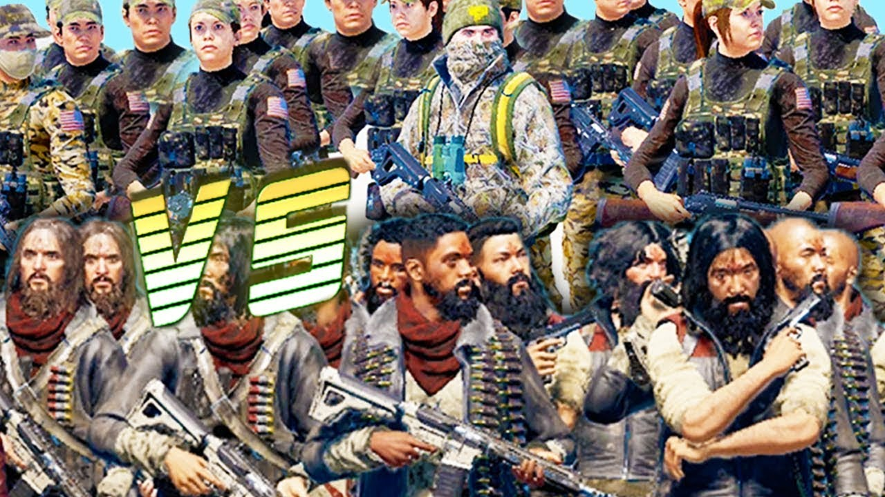 Far Cry 5 Cult Army Vs Resistance Army Arcade Battle Youtube