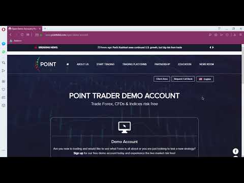 How to open a demo account | Point Trader Group