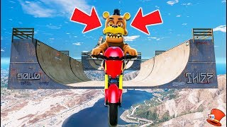 - ULTIMATE ADVENTURE NIGHTMARE FREDDY ANIMATRONIC BMX DEATHRUN GTA 5 Mods FNAF RedHatter