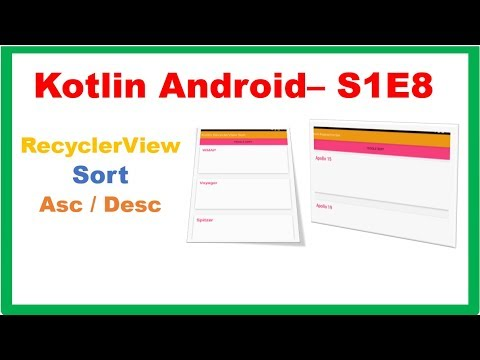 Android RecyclerView → Kotlin Android – RecyclerView Sort