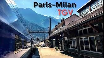 PARIS to MILAN by train: Spectacular TGV through the Alps