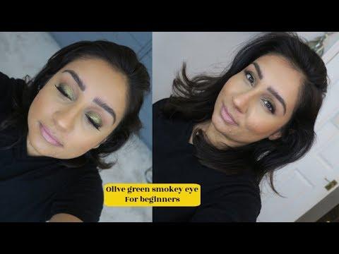 #brownskinmakeup How to Easy green metallic smokey eye talk through tutorial